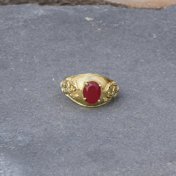 Brass Ring Red Onyx Ring wedding ring Victorian Ring engagement ring beautiful ring Gift For Her NSA1705