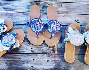 41bb5fc3b8299 Monogrammed sandals | Etsy