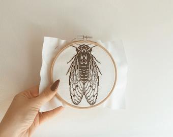 Cross Stitching patterns of Cicadas Fig 9 Patterns 01 to 09