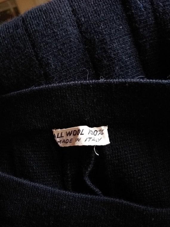 70s Italian Wool Knit Bell-bottoms - image 6