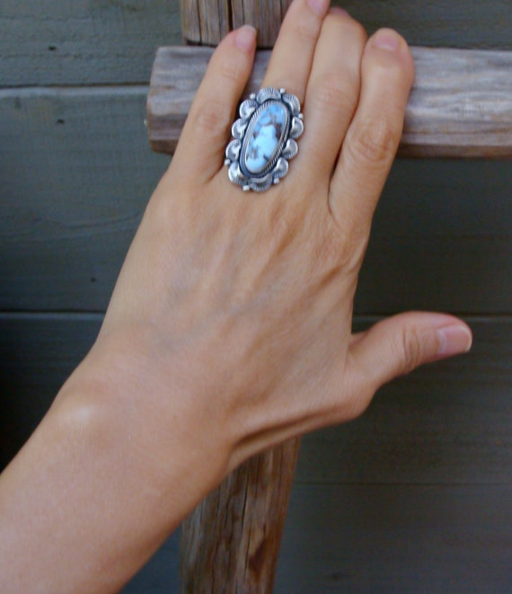 Native American Golden Hill Turquoise Silver Ring