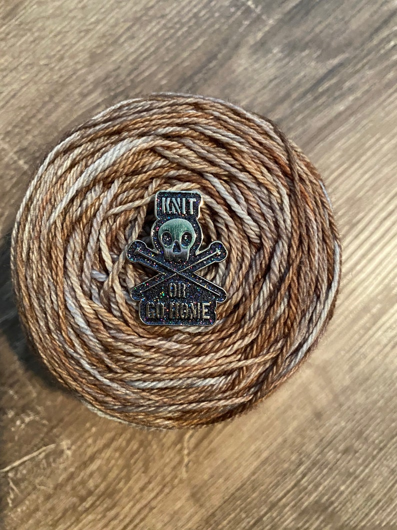 Knit or Go Home Pin image 0