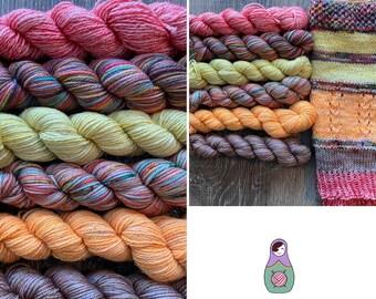 Yarn kit (pinks, yellows, oranges)