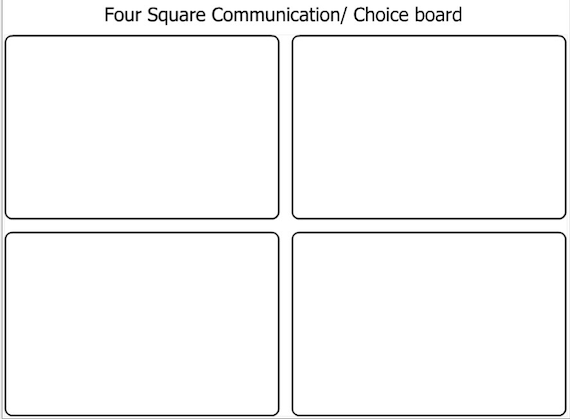 4 Square Choice Board Communication Board Template Etsy