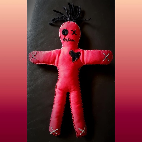 Hand made, one of a kind Magick Red Poppet/Voodoo Doll