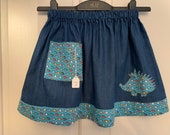 Girls lightweight denim skirt