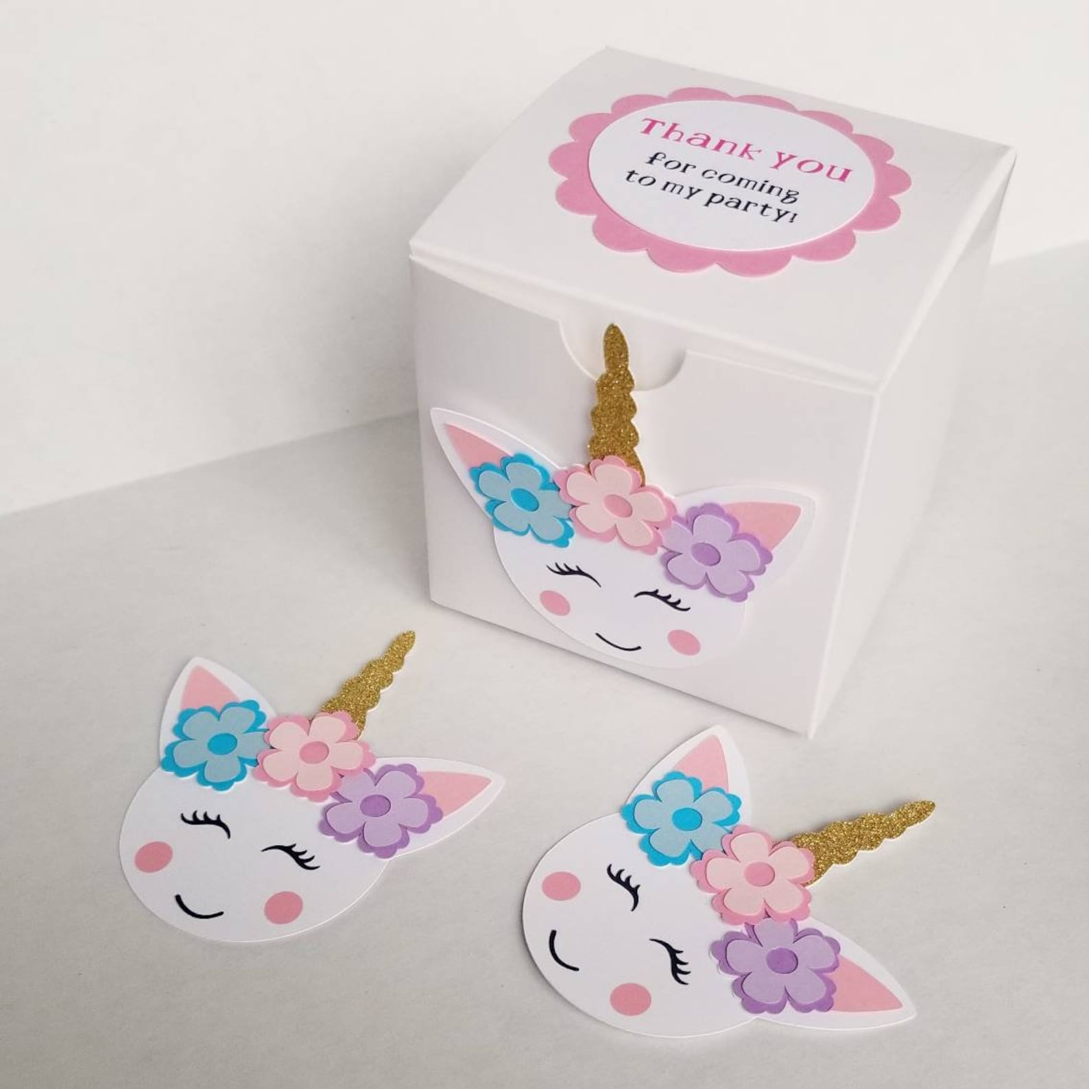 Unicorn Party Favor Boxes for 8 Guests