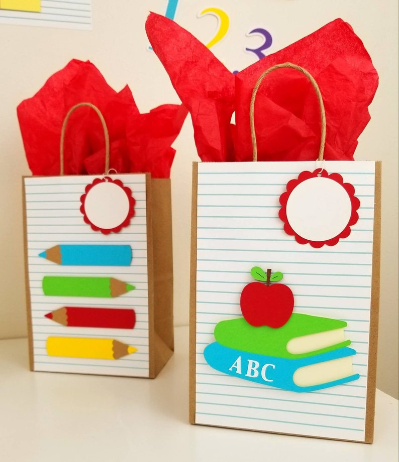 Back to school gift bags First day of school treat bags image 0