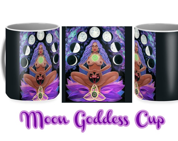 Divine Moon Goddess Yoni Coffee Tea Cup Mug Artist Yana