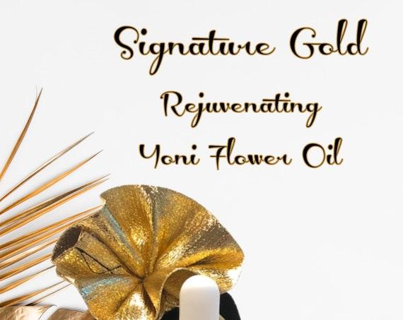 YONI OIL wholesale  Yoni Oil Signature Gold REJUVENATING Yoni Flower Oil Case 6