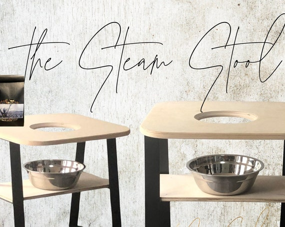 Steam Seat Stool Chair withstaimless steam pan and herbs
