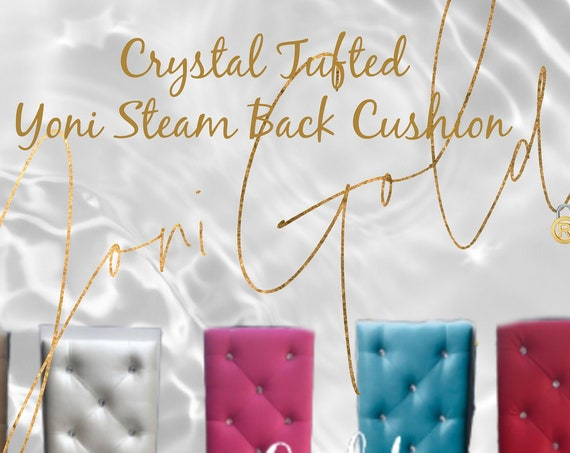 Yoni Steam Back Cushion Crystal Tufted Back Sauna Cushion Custom