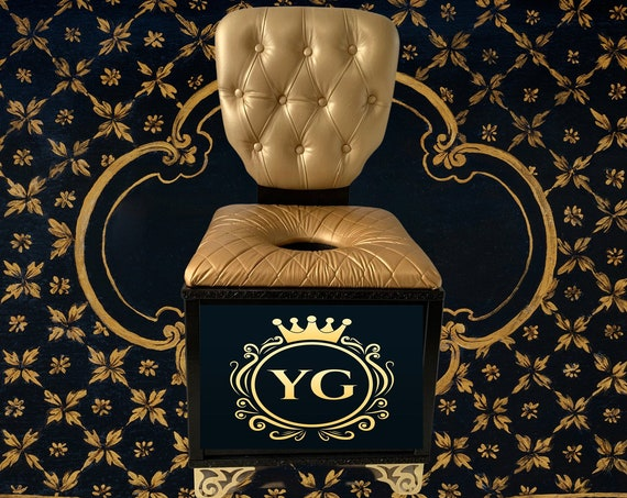 Yoni Steam Throne,  Yoni Steam Chair.  Deluxe Steam Sauna Throne Chair, tufted back, cushion seating Custom