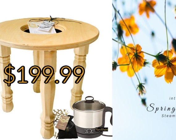 SALE Spring Steam Sale, FREE shipping, Yoni Vaginal  Steam Stool, Steamer and Herbal Steam