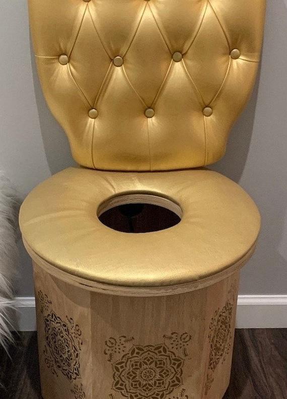 Yoni Steam HEXAGON Sauna Chair Seat with Tuft wall Cushion and seat cushion