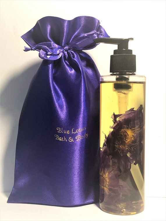 Blue Lotus Body Oil, Luxurious Bath & Body Oil,  Moisture Bath Oil,  8 ounces, Blue Lotus Absolute (Nymphaea caerulea).