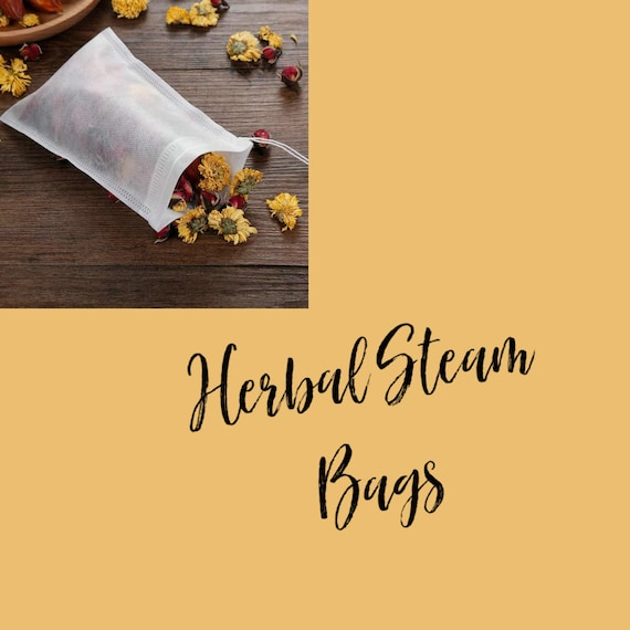50 Herbal Steam Bags, no mess,