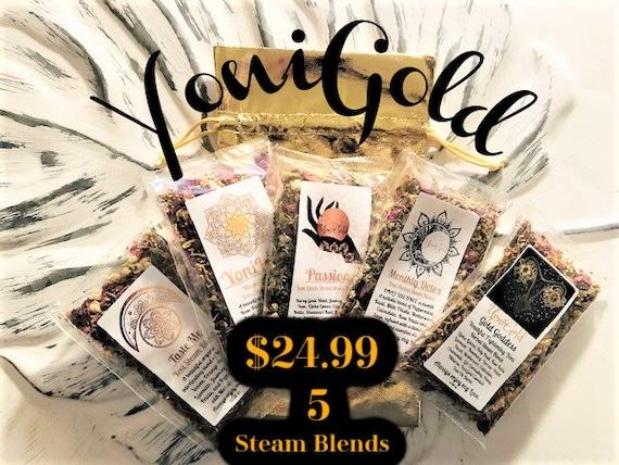5 Yoni Steam Herb Blends single pre-packaged organic v steam herbs