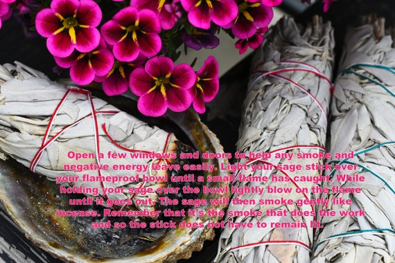 Smudging White Sage with Flowers! Yoni Steaming Healing, Purifying, Meditating, Incense & Cleansing