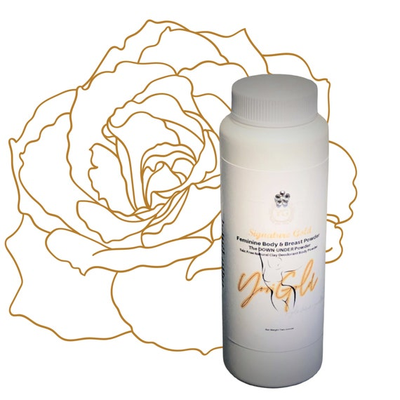 Breast and Body Powder Talc Aluminum Free Feminine Body Powder Odor Itching keeps you dry comes with  Powder Puff