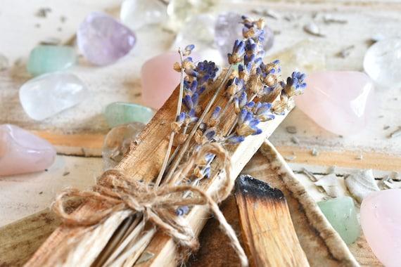 Palo Santo Smudging Sticks with lavender