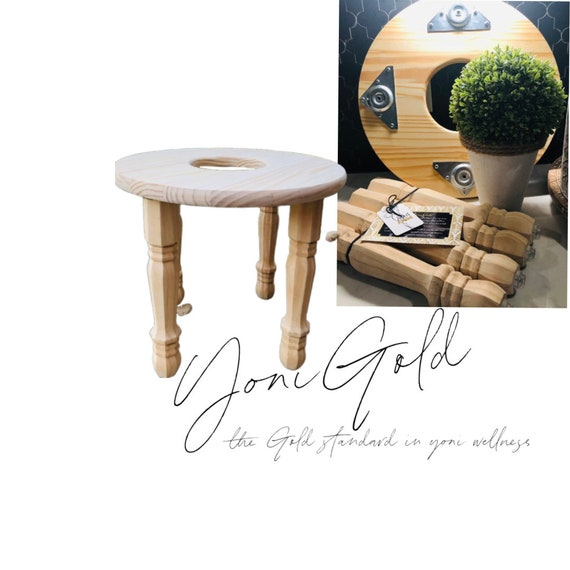 Yoni Steam Seat Stool with Removable Legs Plus size