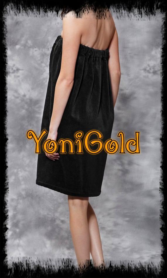 YoniGold Embroidered  Logo 100% Pure Cotton Terry Velour Yoni Steamer Spa Wrap