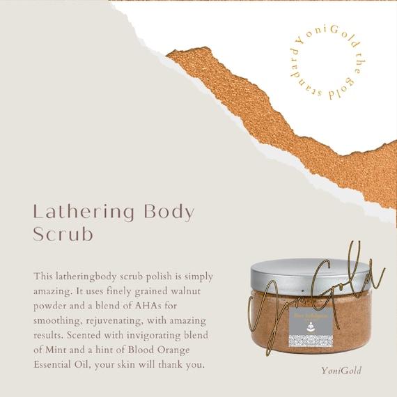 Body Scrub LATHERING  Alpha Hydroxy Acid Polish Body Scrub Pure Indulgence Bath & Spa BlackRose