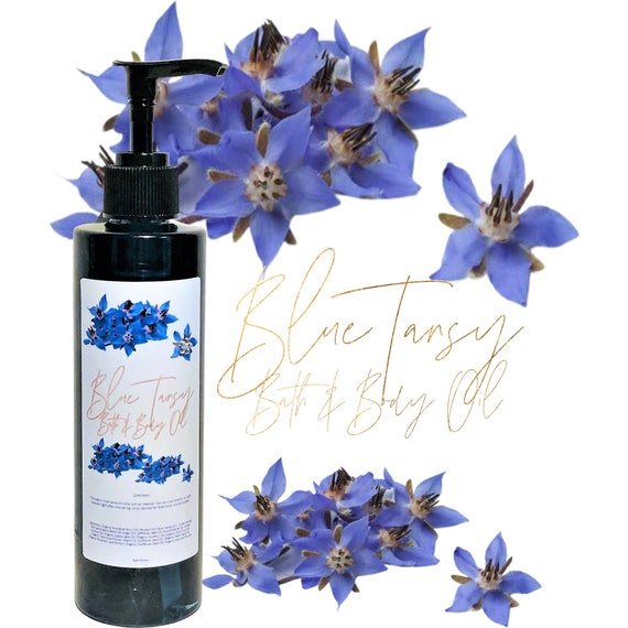 Body Oil, Bath and Body Blue Tansy Bath & Body Oil Moisture 8 ounces