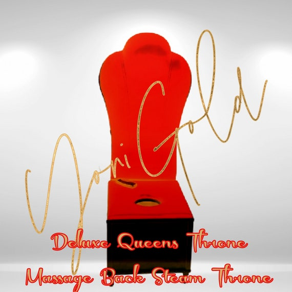 YONI THRONE DELUXE Queens Throne Massage Back Cushion Yoni Steam Throne Sauna