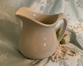 Vintage Pitcher, White Ironstone, Tepco China, Made in USA