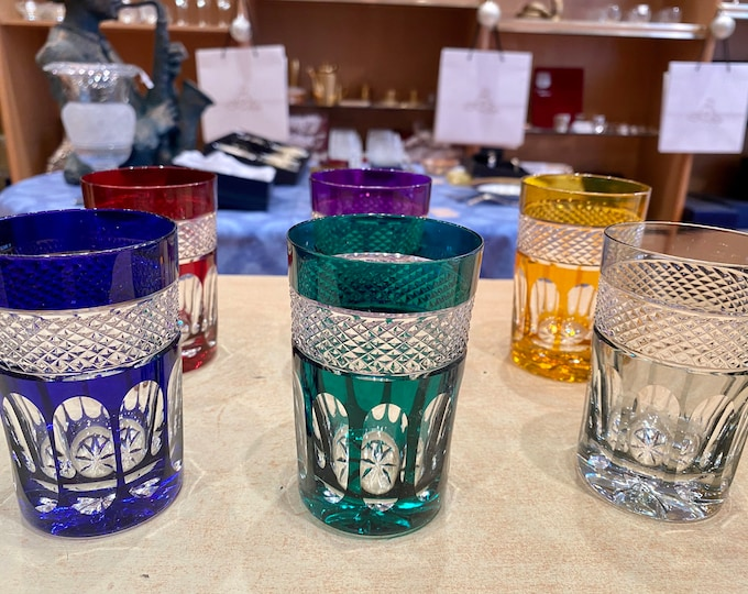 12 Crystal tea glasses. For Oriental, Moroccan, Russian and Turkish tea