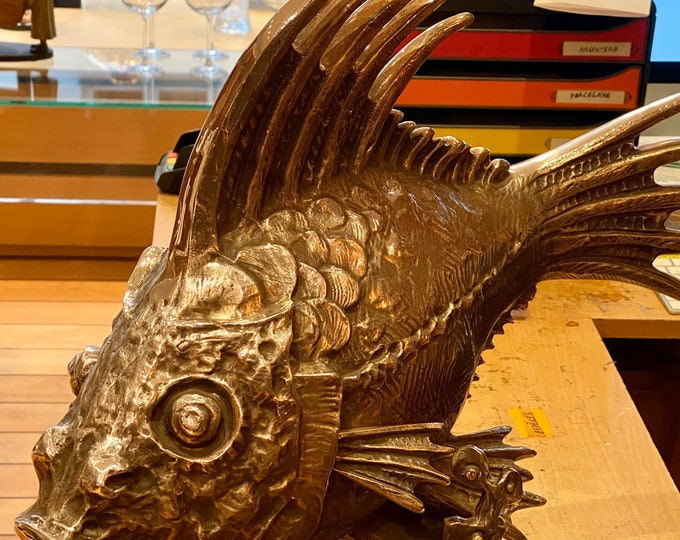 Bronze fish sculpture - French fish sculpture