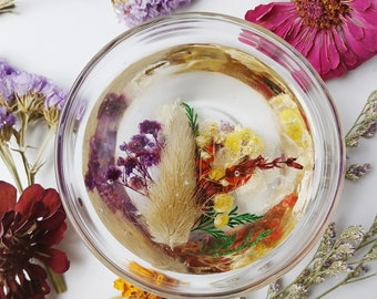 Ring Dish for Jewelry Organization, Real Flower Gift for Her, Trinket Dish, Botanical Floral Home, Handmade gift under 15, Dried Flower