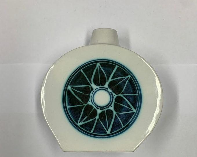 Troika Rare White Glazed Flask Vase (55)
