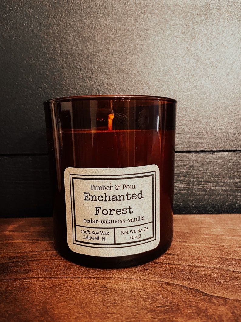 Enchanted Forest soy wax candle