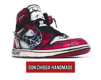 bba0022654ab9 Air Jordan 1 Chicago Custom SPIDERMAN