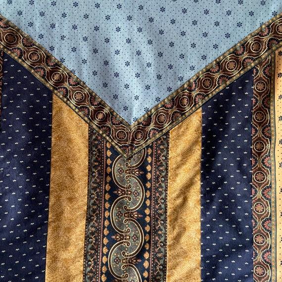 Vintage 90's quilted calico jacket / kantha coat … - image 3