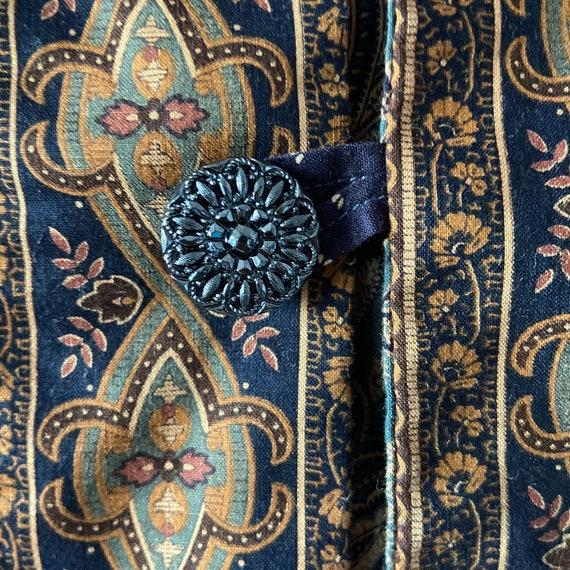 Vintage 90's quilted calico jacket / kantha coat … - image 5