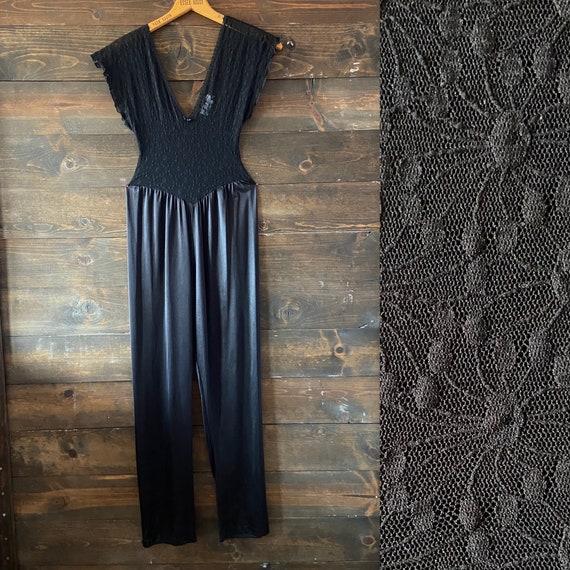 Vintage 80's lingerie jumpsuit / catsuit / bodysui