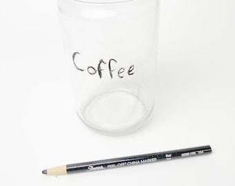 Sharpie Black Wax Pencil - China Marker - Plastic Free - Peel Off Marker - Write & Erasable on China, Glass, Metal, Wood - Zero Waste Swap