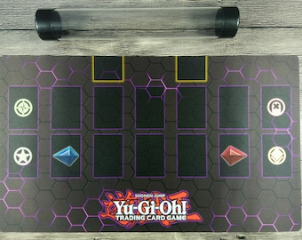 YuGiOh Master Rule 4 Card Link Zones Custom TCG Duel Card Games Mat Playmat  Free Best Tube