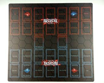Yu-Gi-Oh! 2-Player Master Rule 4 Card Link Zones Custom Playmat TCG CCG Duel Mat