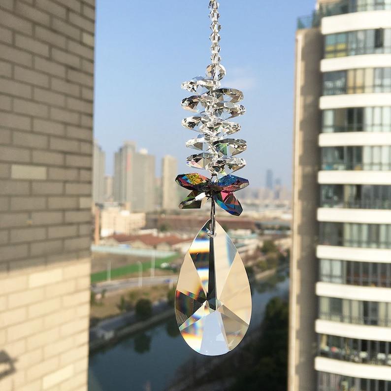 Crystal Strand Party Crystal Pendant Shining Window Hanging Crystal Suncatcher,Gorgeous Rainbow Maker Weddings Beaded Crystal Gift,