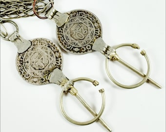 Metal Coins 1366 Vintage Handmade Jewelry Women/'s From Morocco Rare Old Moroccan Jewelry Tribal Ethnic Berber Silver Antique