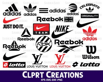3035c1c5694f17 Adidas svg | Reebok silhouette | Nike Logo | just do it | Wilson clip art |  svg | dxf | eps | png | cricut cut file