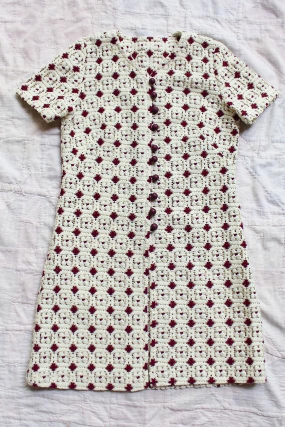 1970s Granny Square Crochet Knit Top