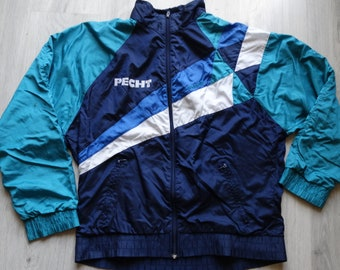 fc7584cd3 Adidas Vintage 90's windbreaker jacket multi color Unisex, Retro The  Prodigy Rave Marusha The Chemical Brothers The Crystal Method