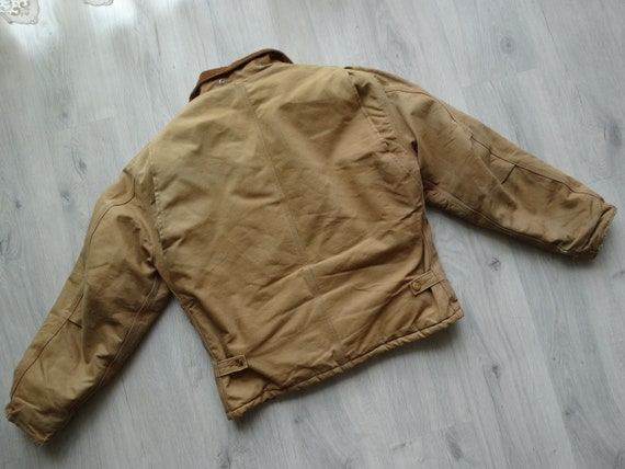 Vintage CARHARTT Workwear Jacket Brown Mens Carha… - image 7