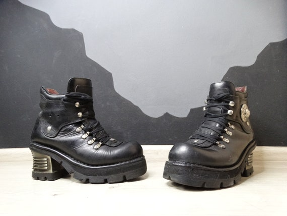 New Rock 90's Vintage Gotic Biker Platform Boots/C